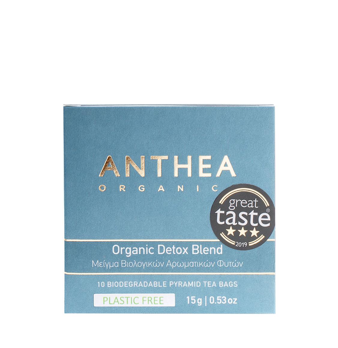 Anthea Organics Βιολογικό Μείγμα Βοτάνων Detox Blend 10 Plastic Free Pyramid Tea Bags