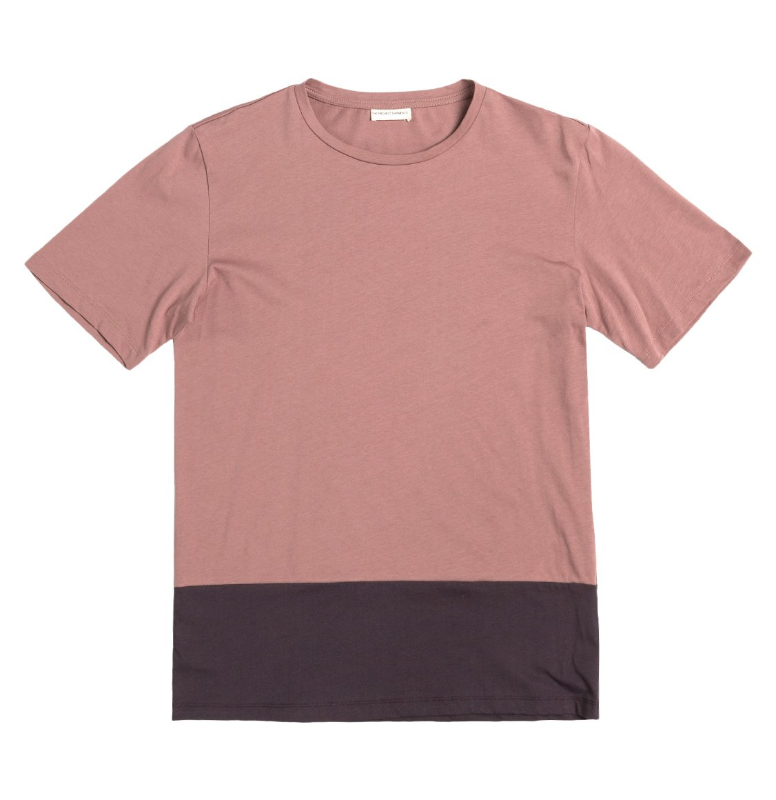 The Project Garments Color Block Crew Neck T-Shirt Powder