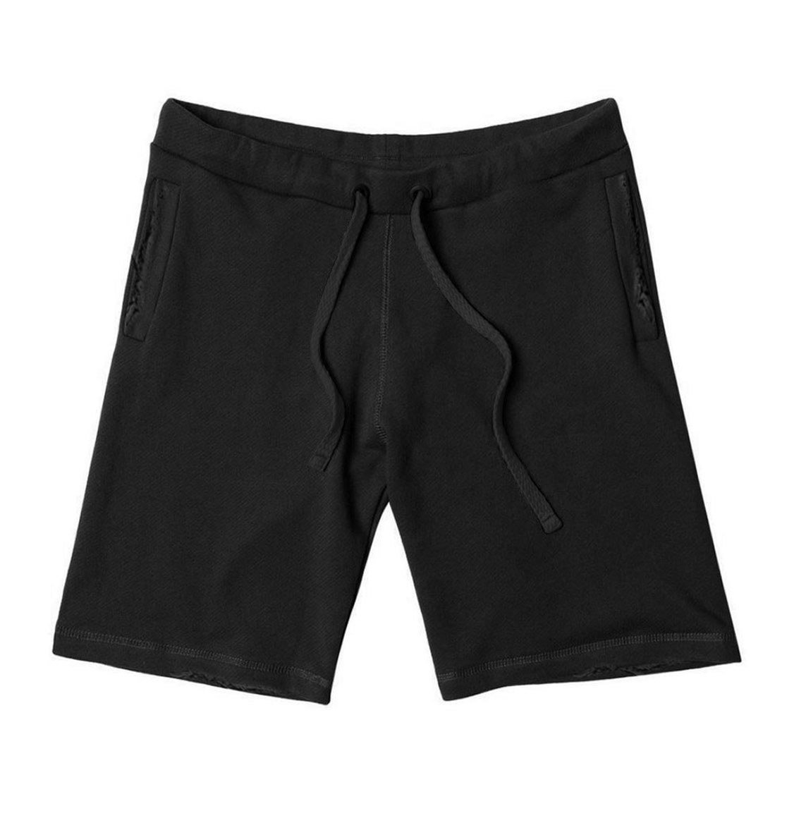 The Project Garments Distressed Lyocell Blend Jersey Shorts Black
