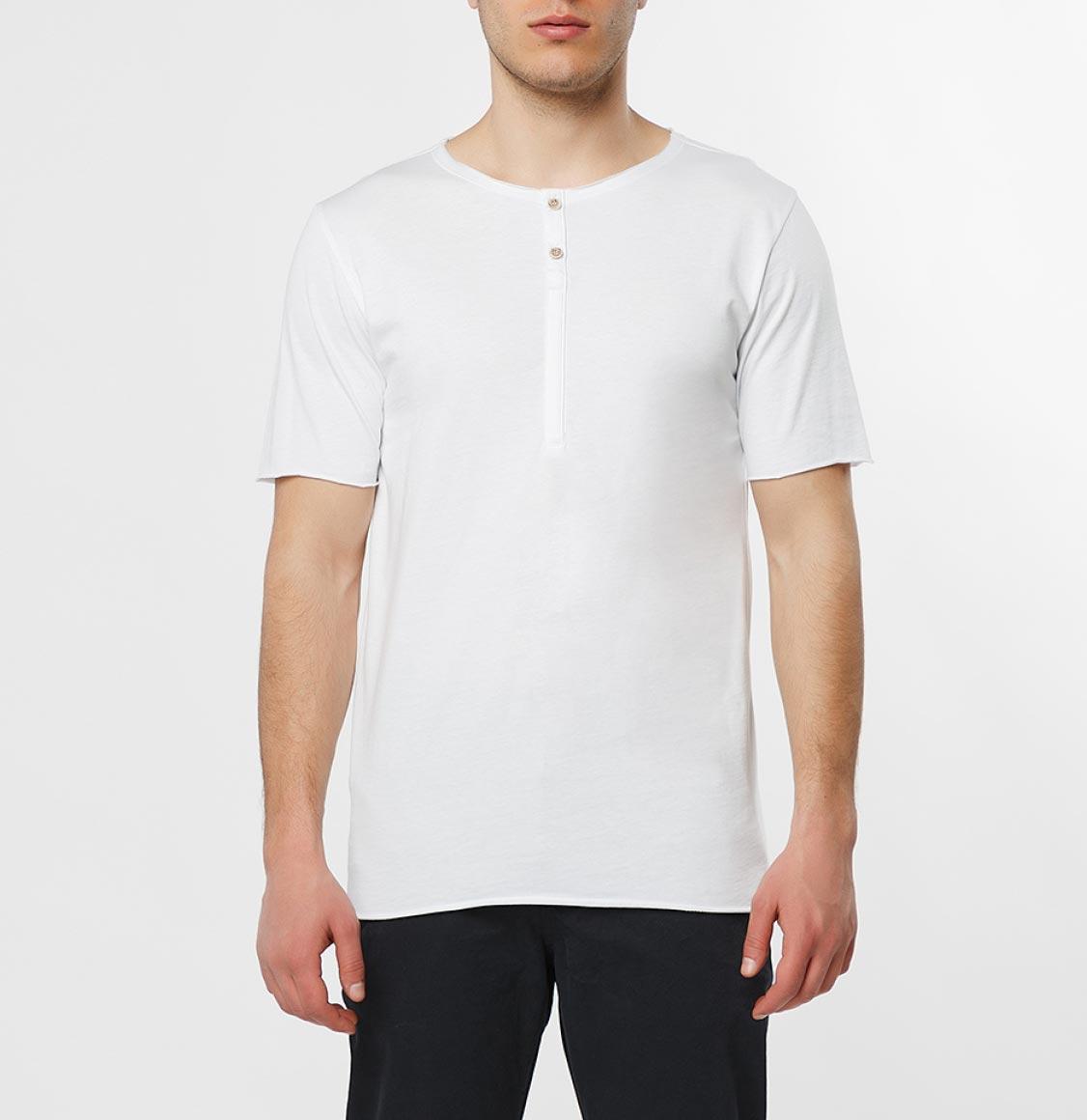 The Project Garments Grandad Organic Cotton T-shirt White