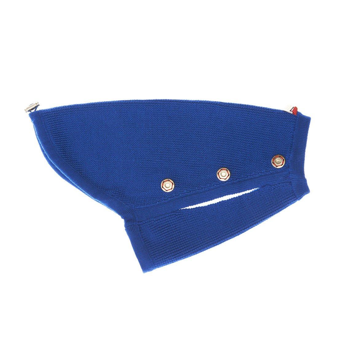 Poldo Dog Couture Cortina Blue 2 in 1 Luxury Dog Coat Small-30cm | Small-35cm | Medium-40cm