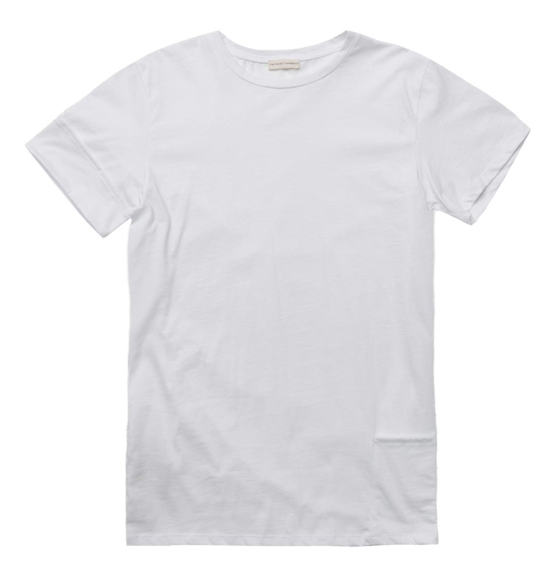 The Project Garments Roll Sleeve Crew Neck T-Shirt White