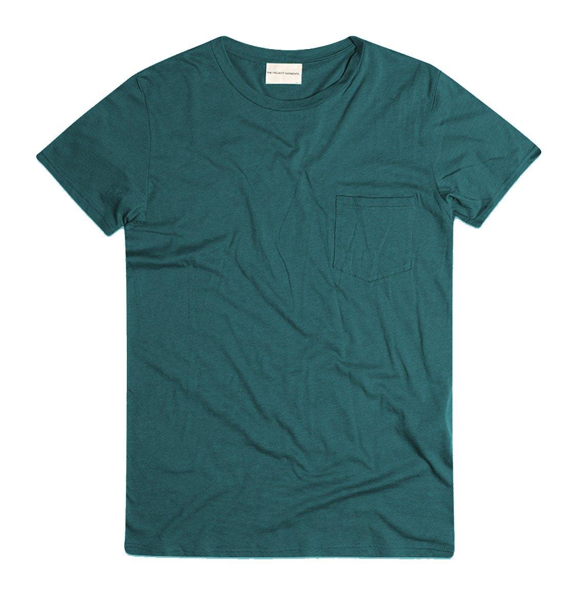 The Project Garments Crew Neck Modal-Blend Pocket T-shirt Myrtle Green