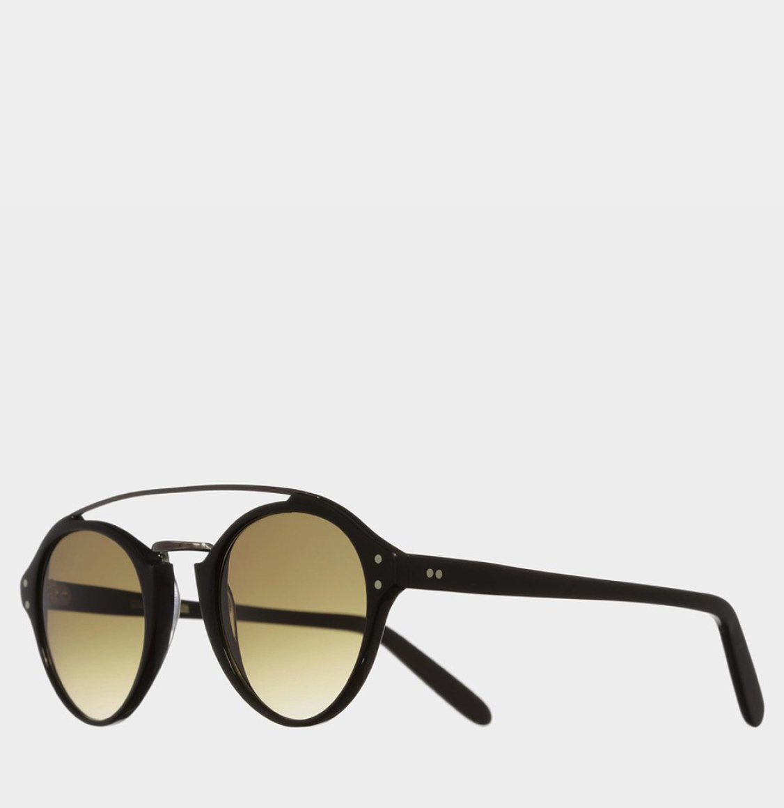Cutler and Gross Oval-Frame Acetate Black Γυαλιά Ηλίου