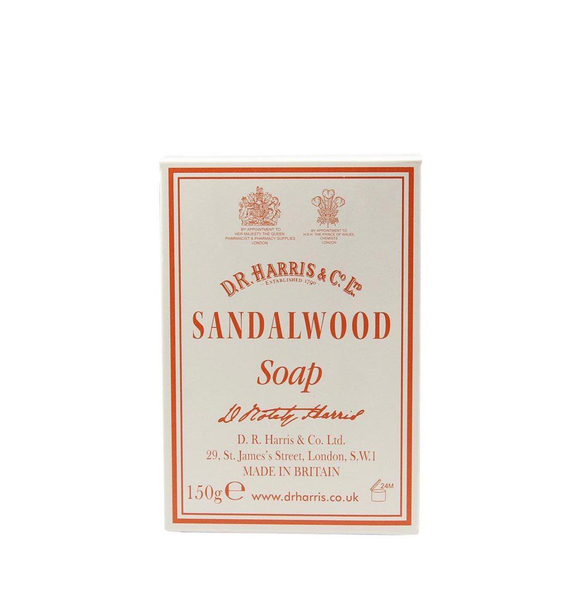 D R Harris Sandalwood Cleansing Bar 150g