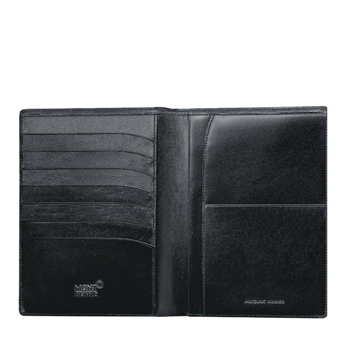 Montblanc Bifold Black Leather Vertical Wallet