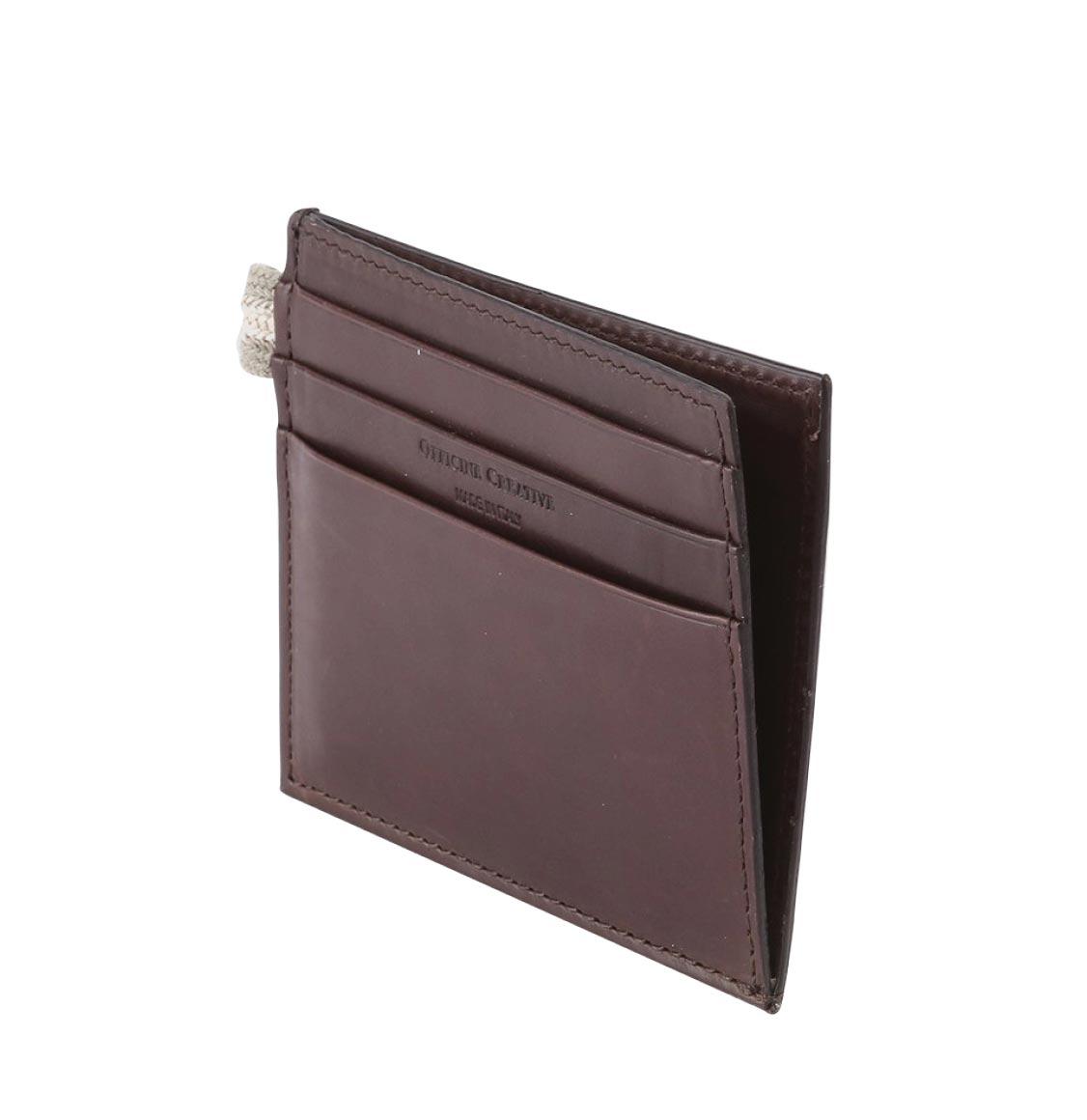 Officine Creative Dark Brown Leather Card Case