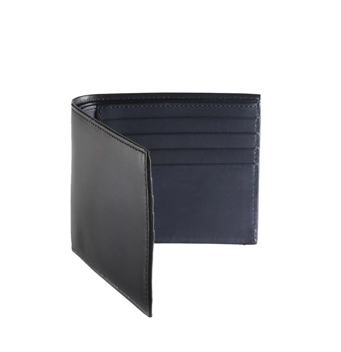 Officine Creative Marine Blue Leather Wallet