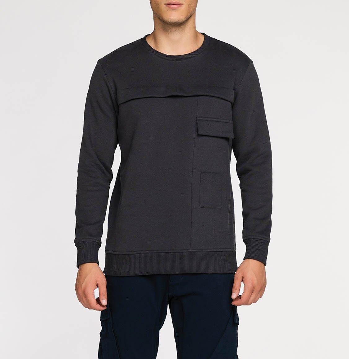The Project Garments Panelled Cotton Jersey Sweatshirt Meteorite