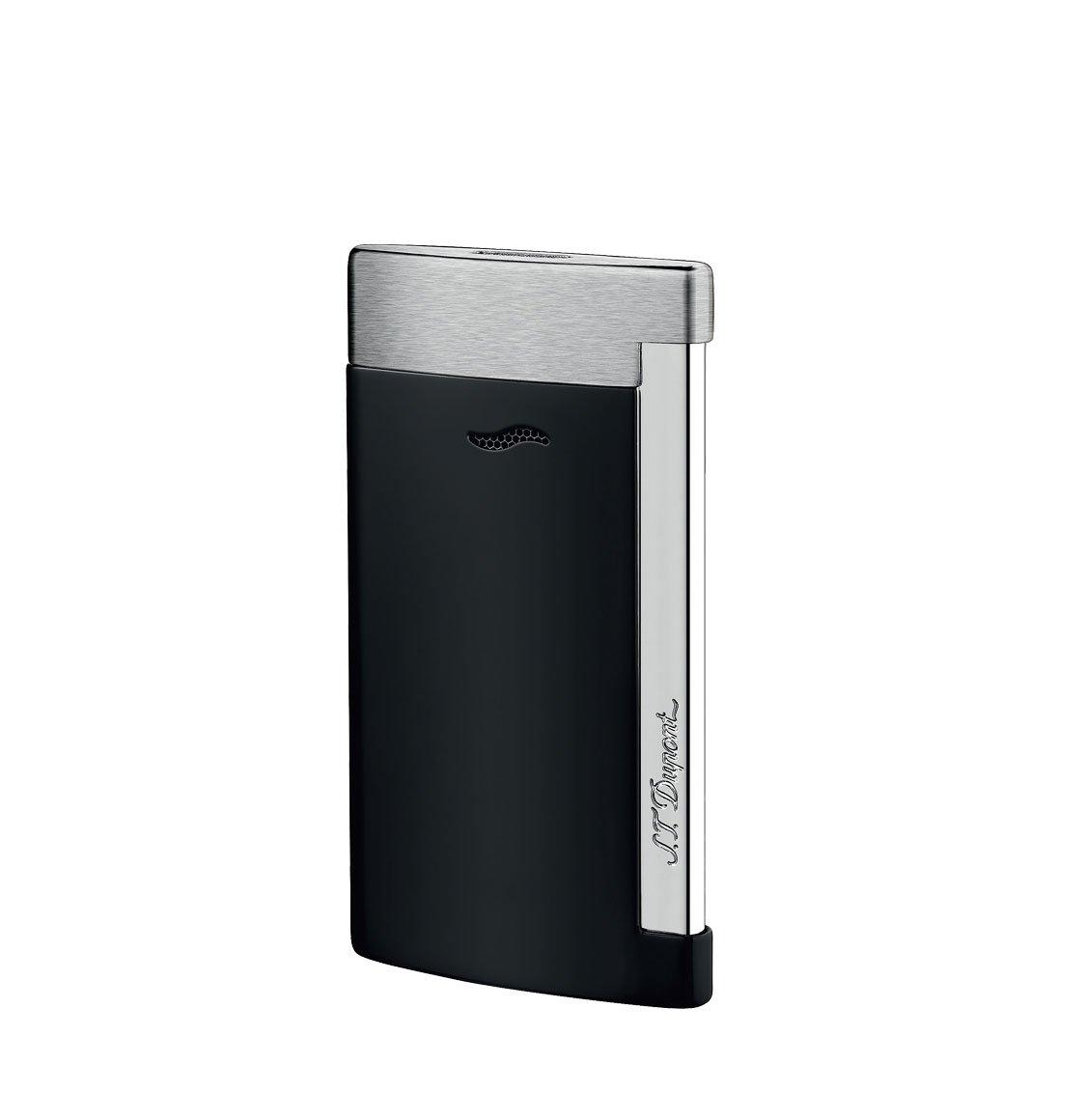 S.T. Dupont Αναπτήρας Slim 7 Mat Black And Brushed Chrome Lighter