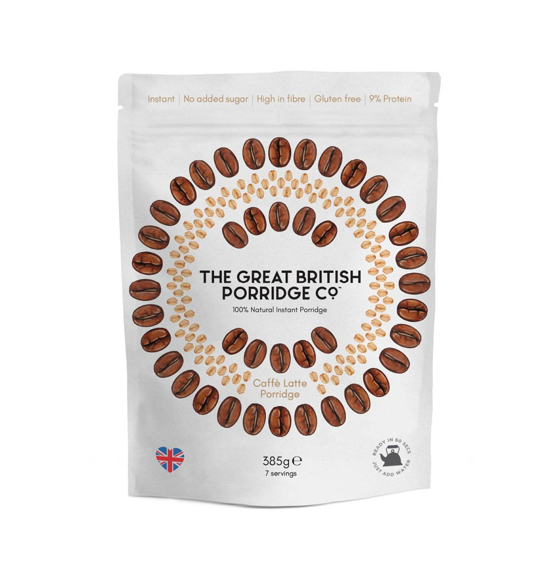 The Great British Porridge Cafe Latte 385g