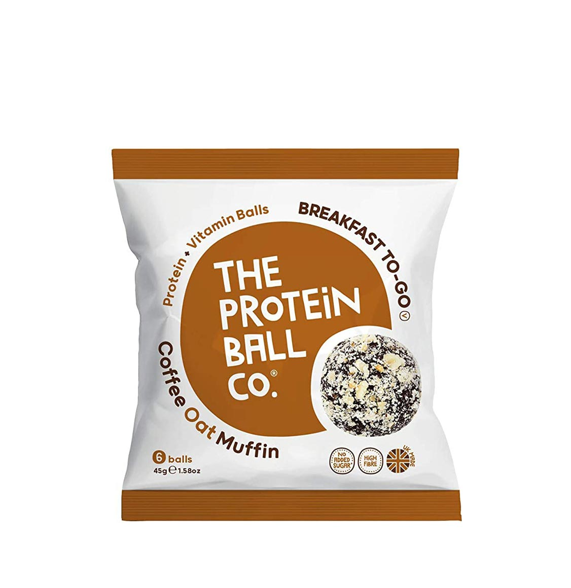 The Protein Ball Co. Coffee Oat Muffin Protein Balls 45g