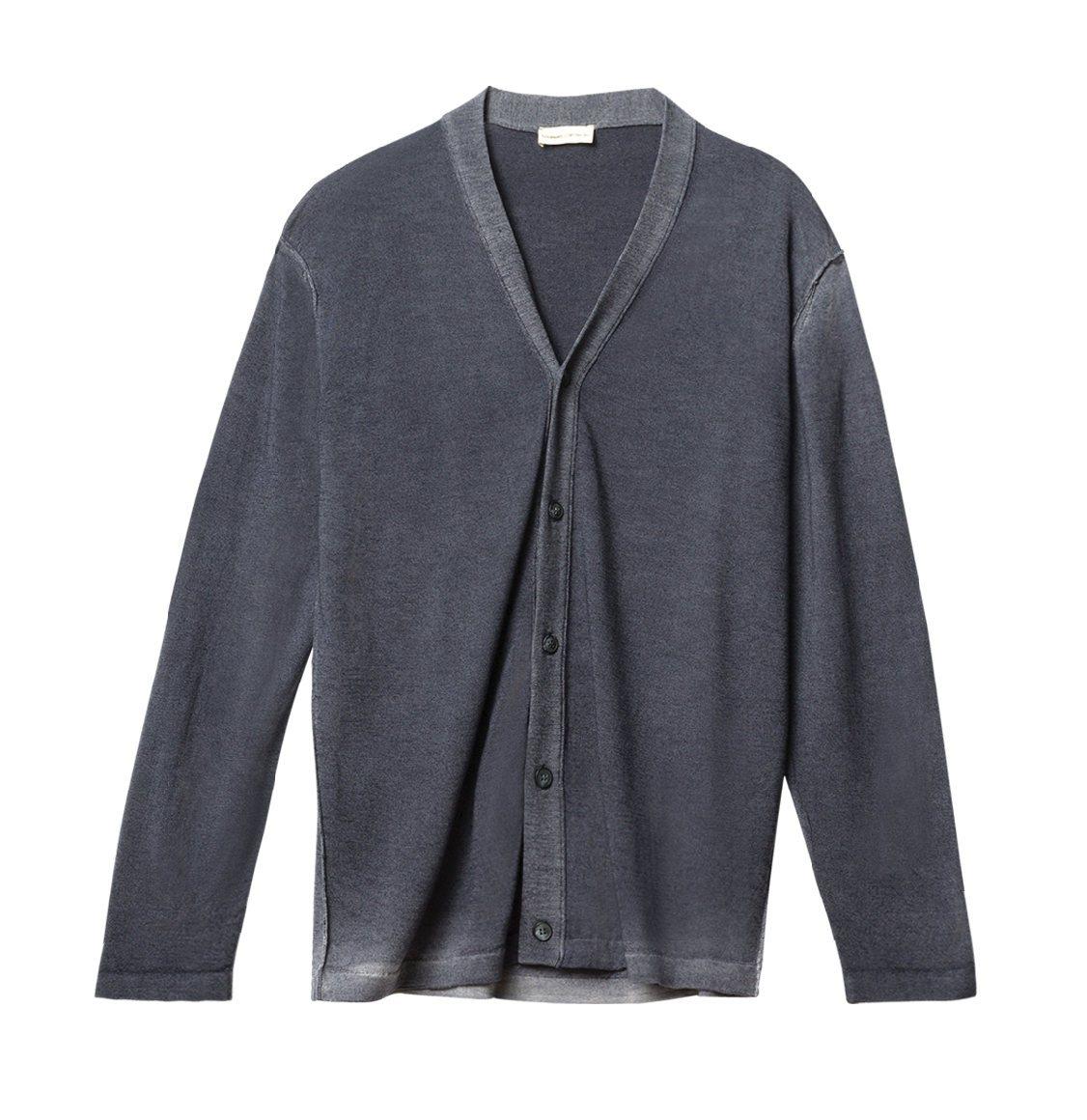 The Project Garments Oil Wash Virgin Wool Cardigan Grey