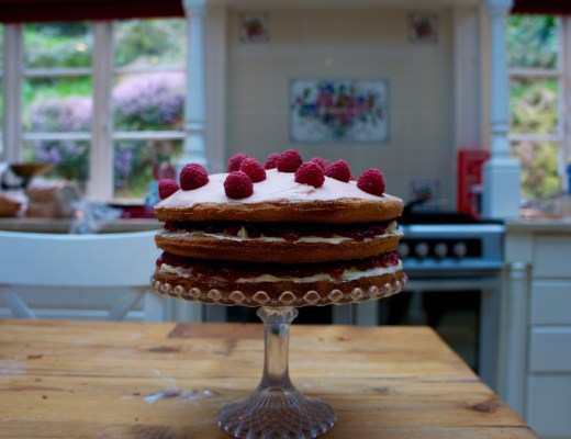 Summer Raspberry Cake Recipe - The Project Lifestyle