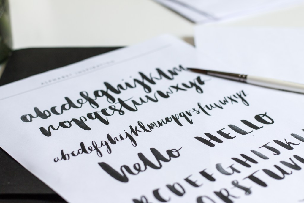 Brush Lettering Workshop from the Lovely Drawer - The Project Lifestyle