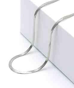 Ασημί snake αλυσίδα