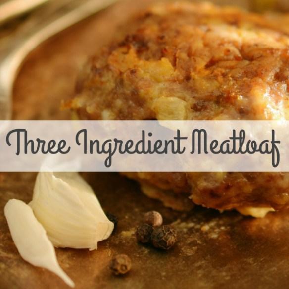 3 Ingredient MeatLoaf (2 Minute Prep, 1 Hour Bake Time) #Meatloaf #3IngredientRecipes #Recipes