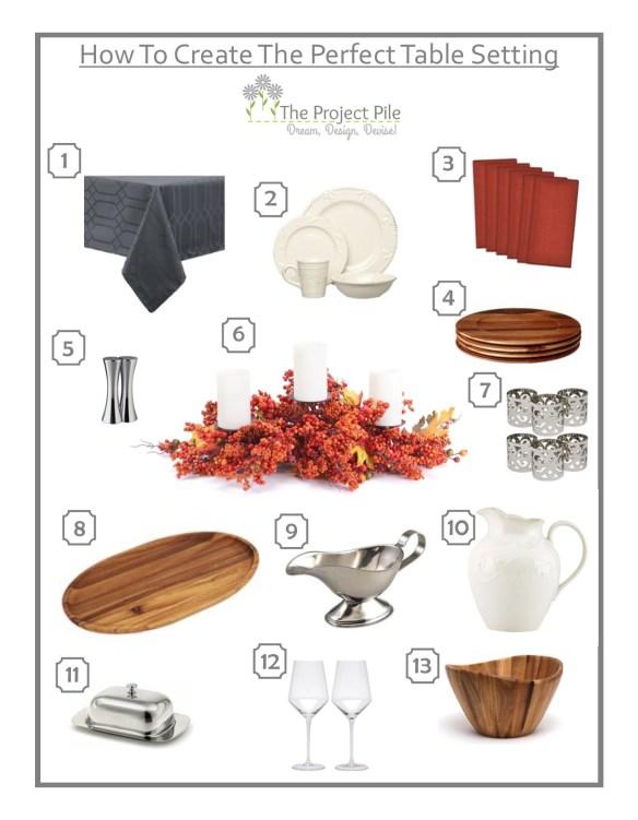 Thanksgiving Table Setting Mood Board V02