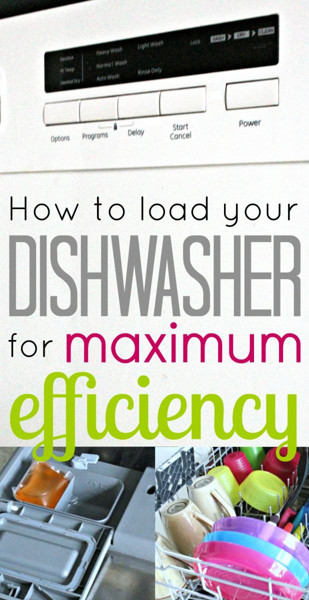 How to load your Dishwasher for Maximum Efficiency!