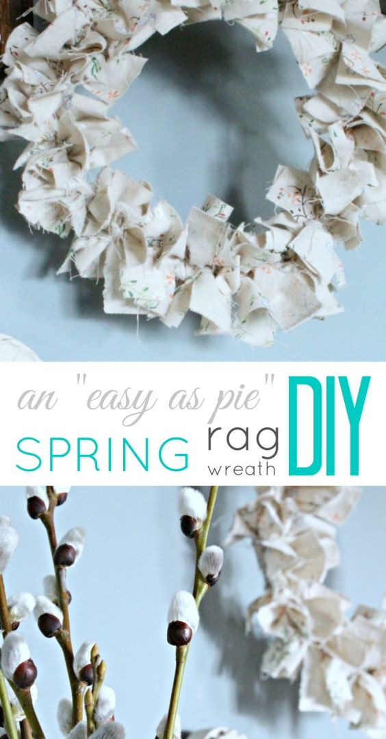 "An ""easy as pie"" DIY Rag Wreath for Spring!"