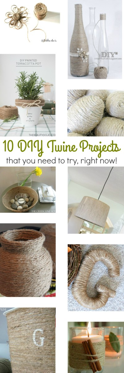 10 DIY Amazing Twine Projects (that you need to try, right now!)