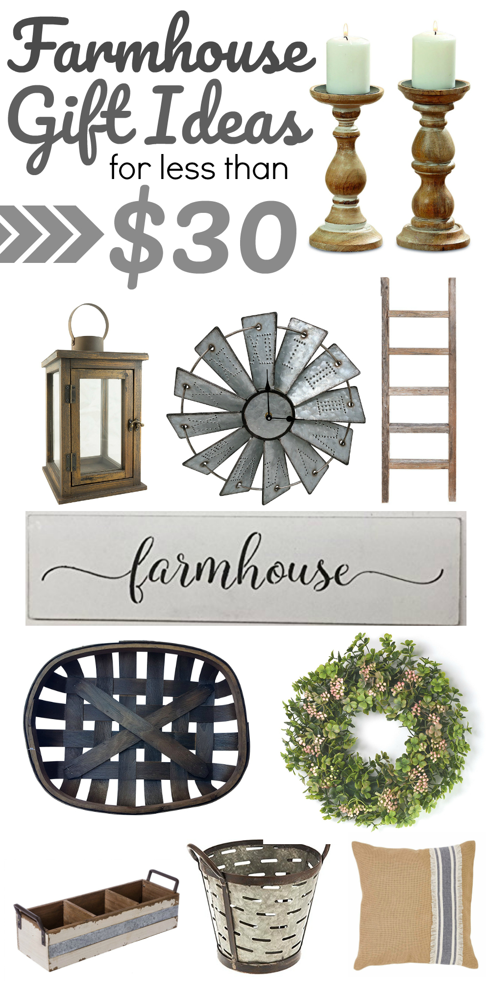 Rustic Farmhouse Style Gift Ideas Less Than 30
