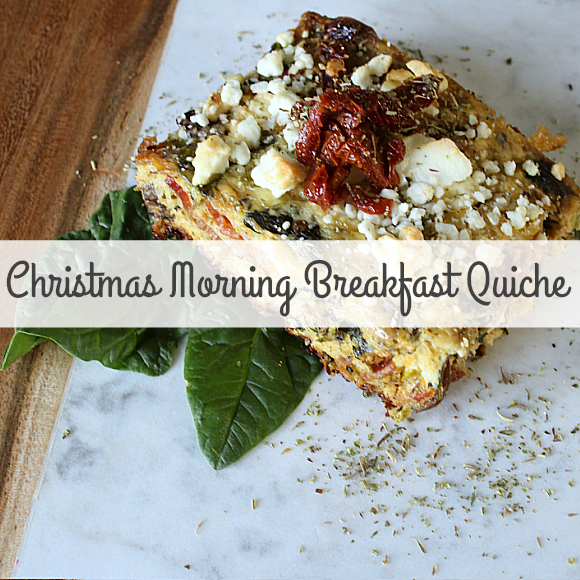 Christmas Morning Breakfast Quiche!