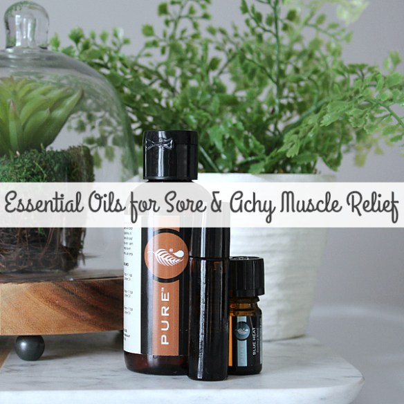 A quick and easy Sore and Achy Muscle Relief Essential Oils Recipe, that actually works!