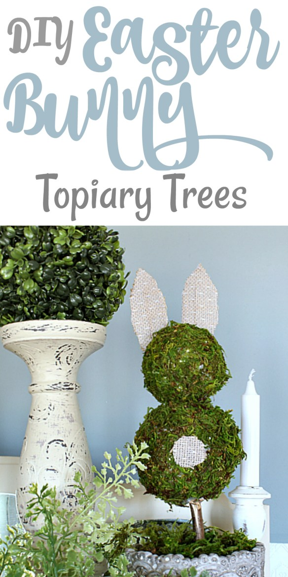 DIY Easter Bunny Topiary Trees & Easter Blog Hop!
