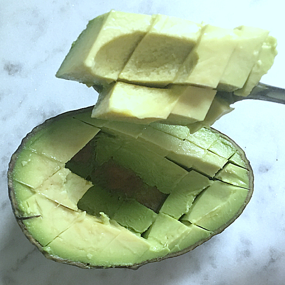 The Best Trick for Slicing or Dicing Avocados!