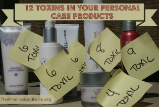 12 Toxins in your personal care products. The promiseland farm
