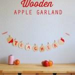DIY Wooden Apple Garland