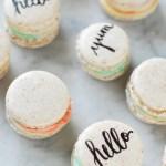 Taste \ Edible Typography Macarons
