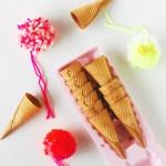 DIY \ Pom Pom Ice Cream Cones