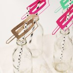 DIY \ Popsicle Drinking Straws