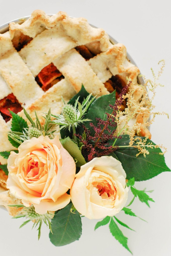 Floral Pie Topper
