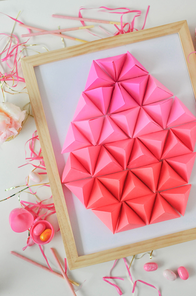 DIY Paper Geometric Easter Egg