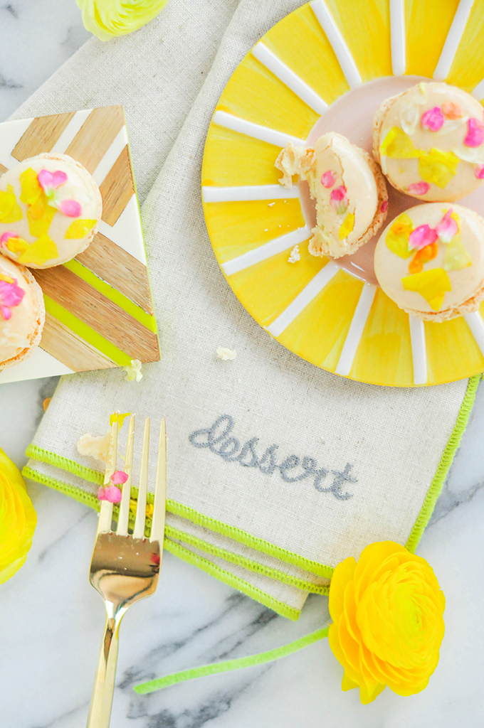 DIY Edible Flower Macarons