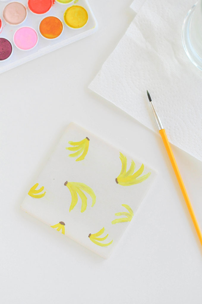DIY Watercolor Fruit Coasters