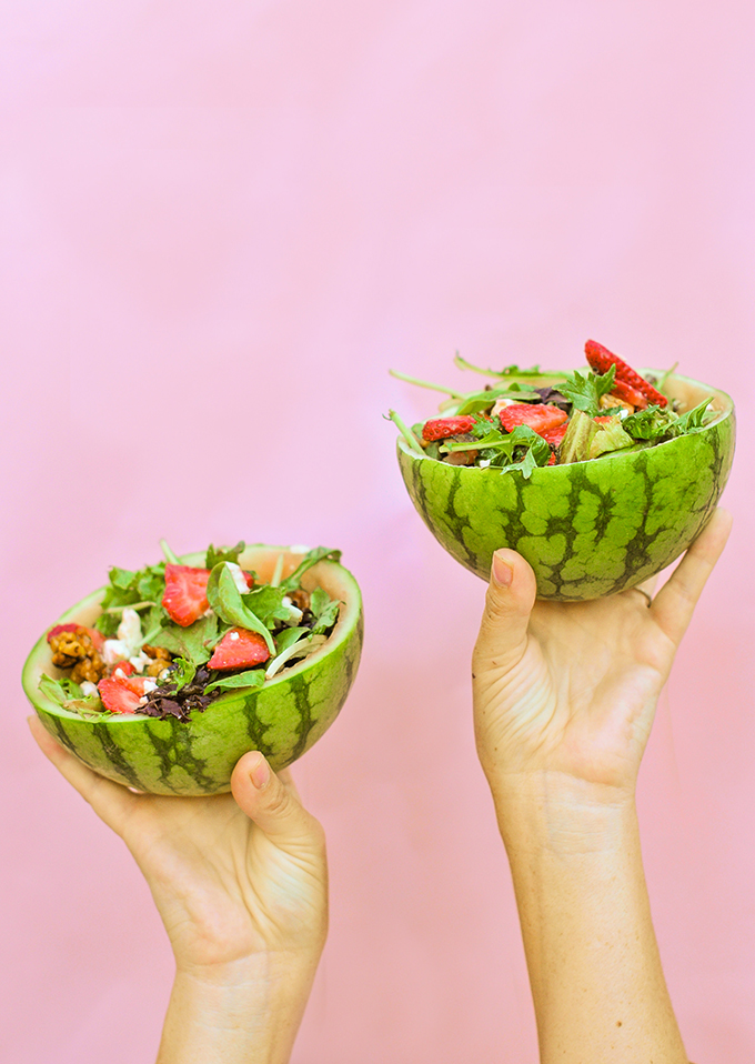 DIY Watermelon Bowls
