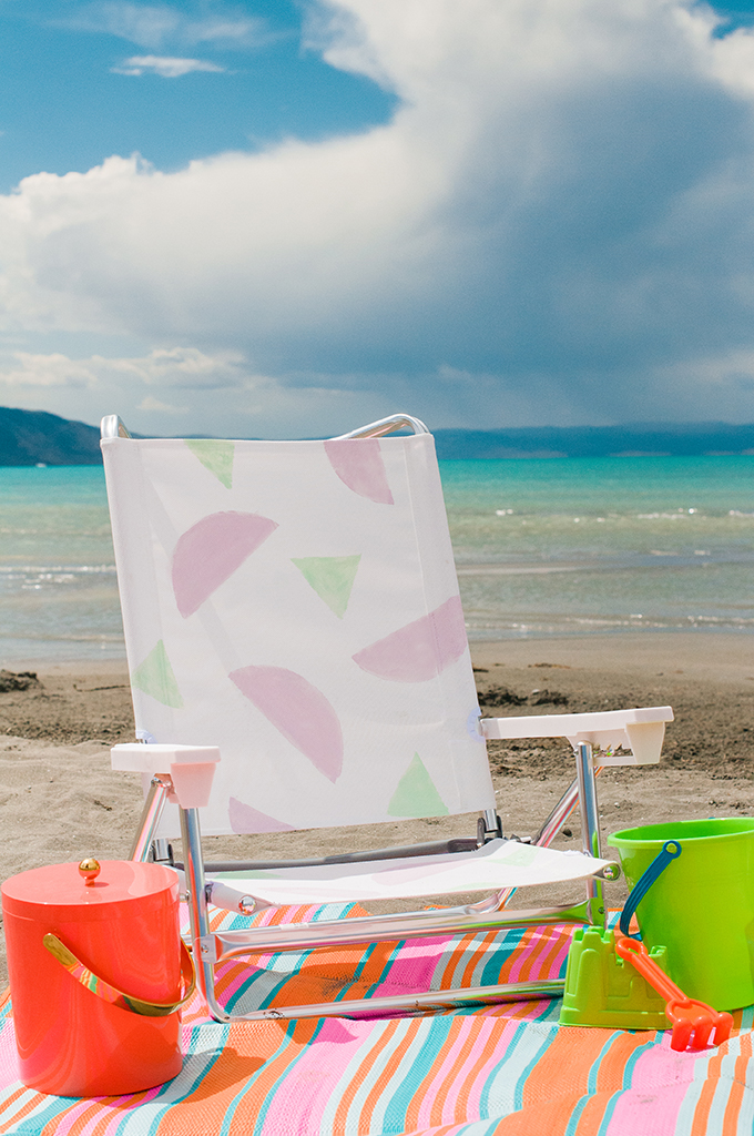 DIY Painted Beach Chairs