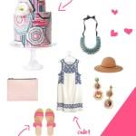 Food Fashion \\ Pink Geometric Cake