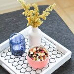Mini Makeover \\ DIY Hexagon Tile Tray