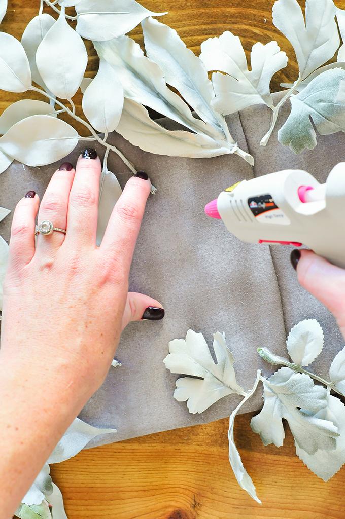 DIY Faux Floral Tablerunner For Thanksgiving