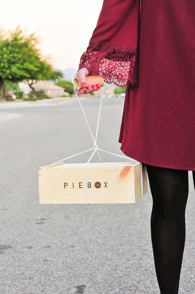 DIY Leather Cord Pie Carrier by @theproperblog