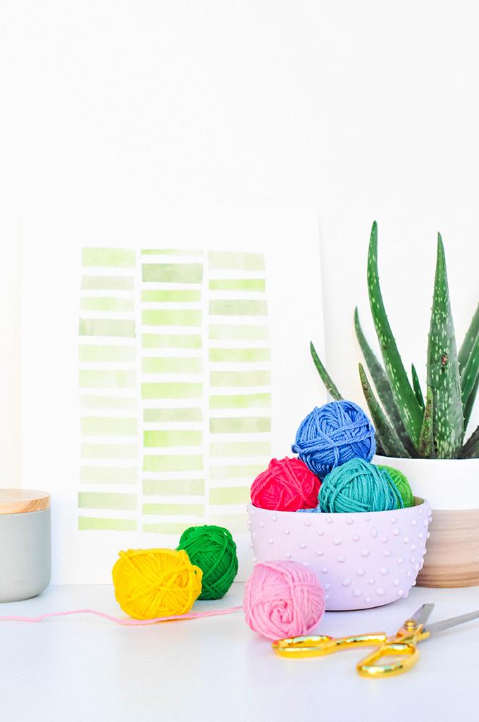 DIY Textured Bowl