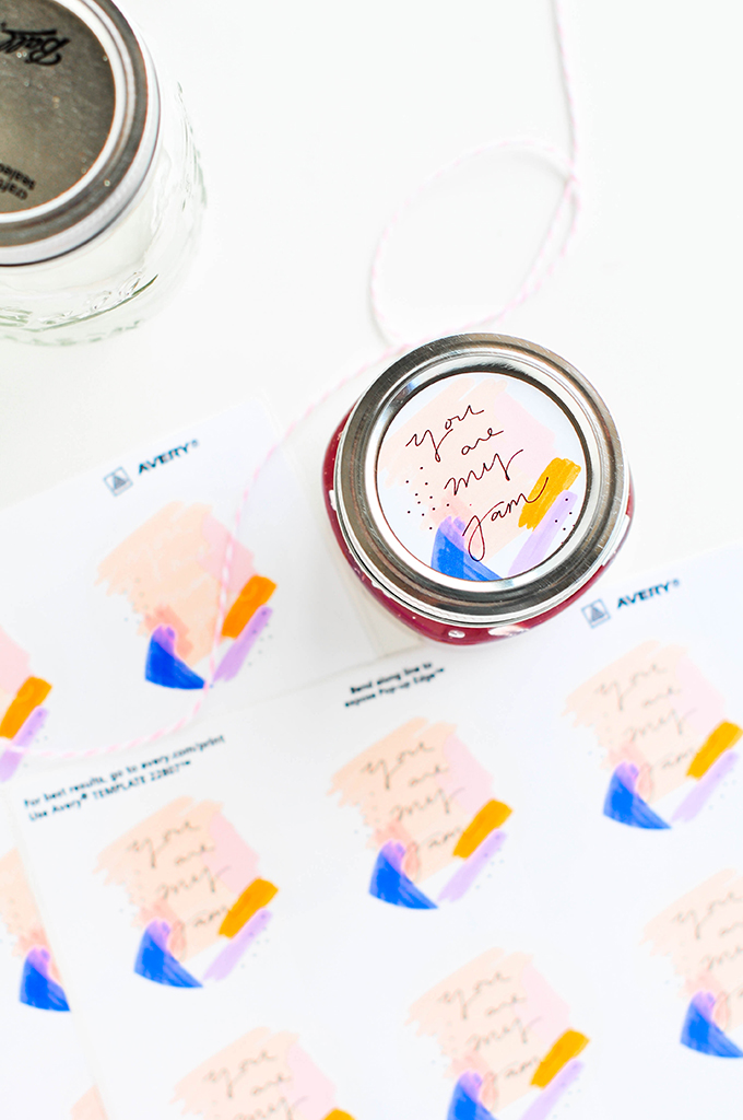 Painterly Printable Jam Labels
