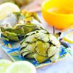 Taste It \\ Grilled Artichokes with Lemon Garlic Butter