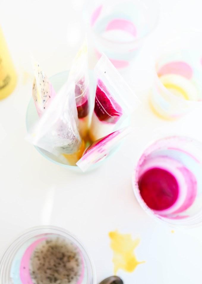 Fruity Colorblocked Popsicles    www.theproperblog.com