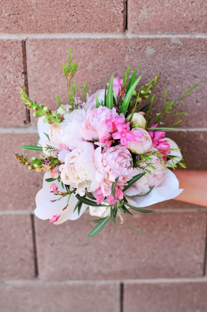handed bouquet by @theproperblog for Nicole's Classes